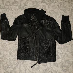 Women's Ed Hardy Leather Bomber Sz S